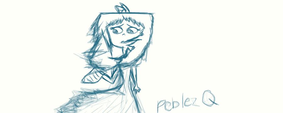 Isabella Sketch by peblezQ