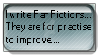 I write FanFictions Stamp. by peblezQ