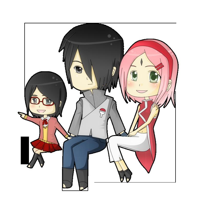 Chibi Uchiha family by xcry