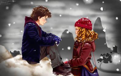Harry x Hermine by ninaneco