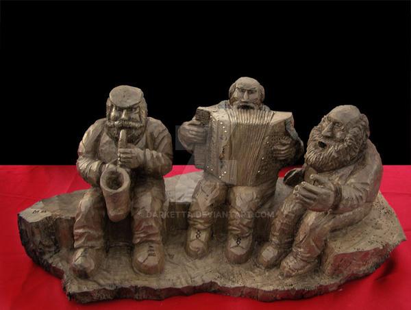 the three musicians by darketta
