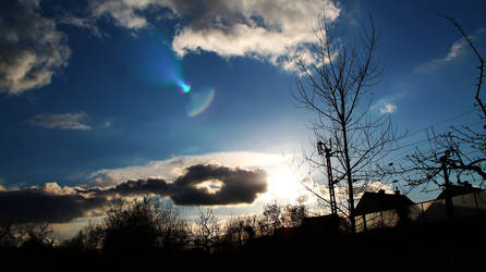 Nice Sun With Clouds by Octave01