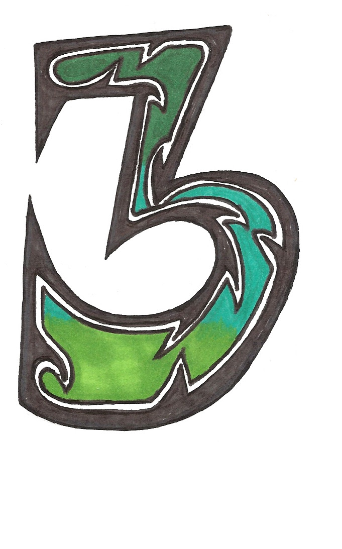 Tattoo Numbers: number 3 by ~zoemichellep on deviantART