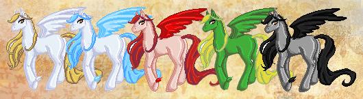 Elemental Ponies by fierydiamond
