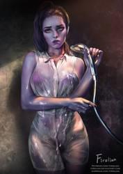 Widowmaker in Shower booth by Firolian