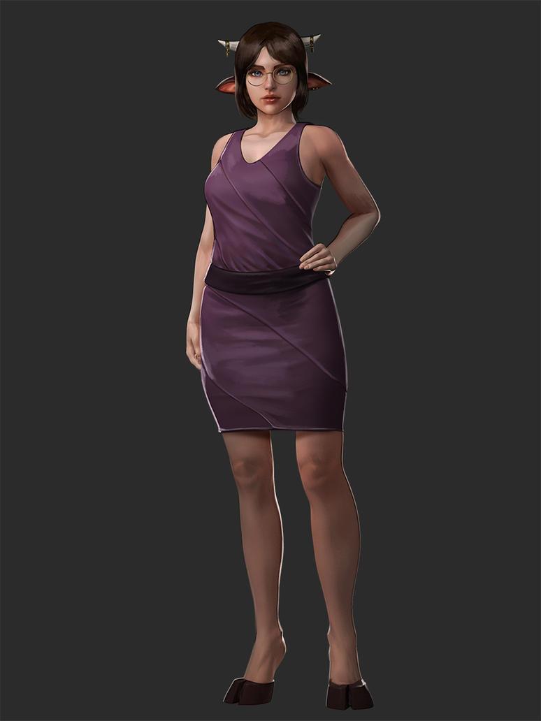 Milla - Game Character design by Firolian