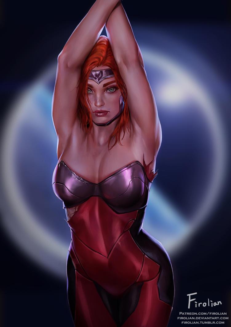 Gun Goddess Miss Fortune by Firolian