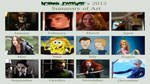 My 2012 Character summary Calender Meme by Normanjokerwise