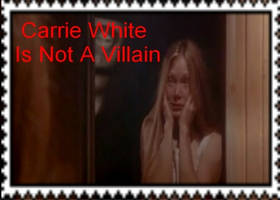 Carrie White Is Not A Villain Stamp by Normanjokerwise