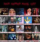 My Horror Movie Cast Meme
