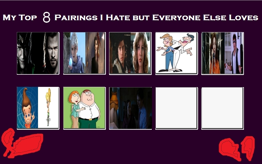 Anime Characters Everyone Hates : My top pairings i hate but everybody loves meme by