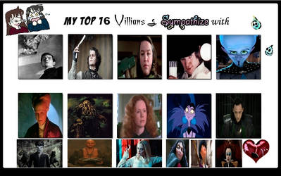 My Top 16 villians I Sympathize With Meme by Normanjokerwise
