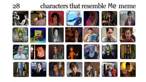 My 28 characters that resemble Me meme