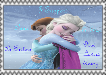 Anna and Elsa As Sisters Not Lovers Stamp by Normanjokerwise