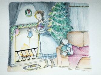 Waiting for Santa by Feliks-Grell