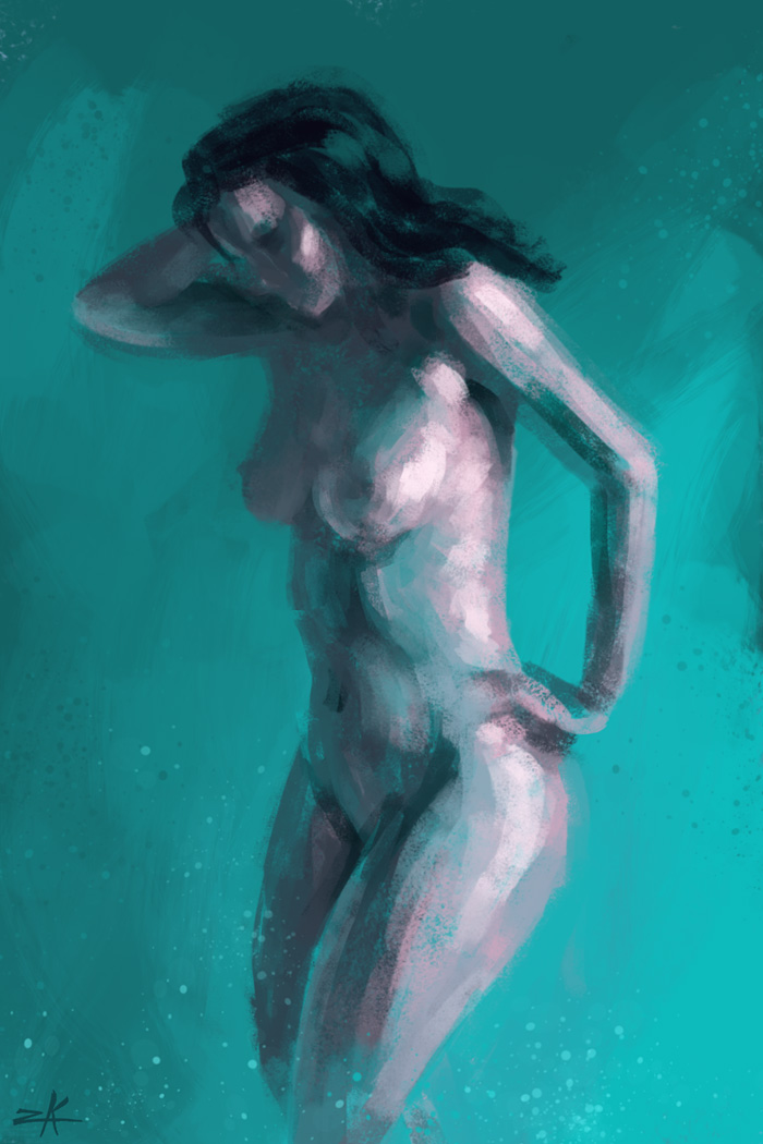 Sketch Painting Krystina Marie by zacharyknoles