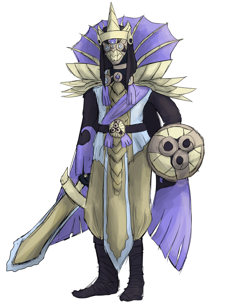 Aegislash Gijinka by garbagekeeper