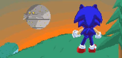 Pixel Sonic Death Egg