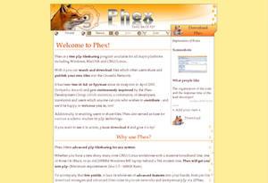 Phex p2p - free webdesign