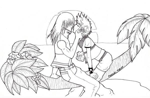 Riku Roxas and a Paopu by Rikuroku