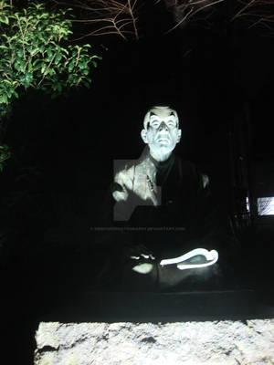 Creepy playground statue
