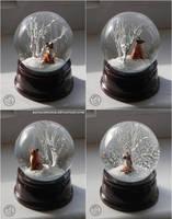 : red kitsune snowglobe : by BastardPrince