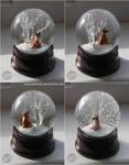 : red kitsune snowglobe :