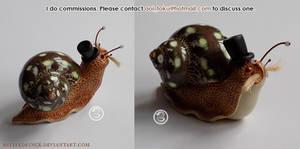 : Victorian Gentleman snail : by BastardPrince
