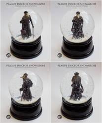 : PLAGUE DOCTOR SNOWGLOBE : by Xibalba-Comics