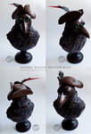 : gothic plague doctor bust :