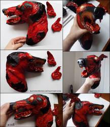 : 1/1 scale zombie dog head : by Bastard--Prince