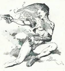 lady punisher by SABOGSINTIDO