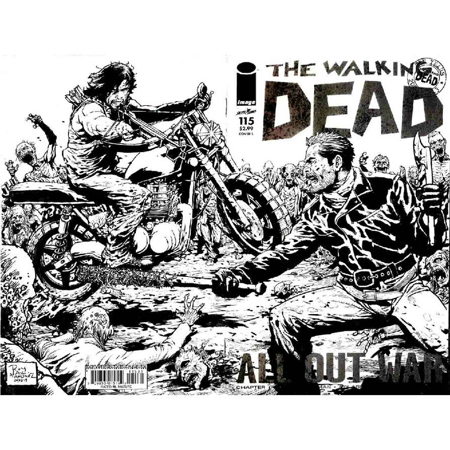 The walking dead daryl vs negan by SABOGSINTIDO