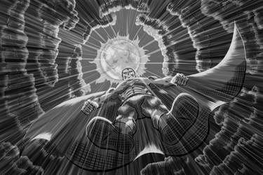 digital : superman black and white 2013 by darshan2good