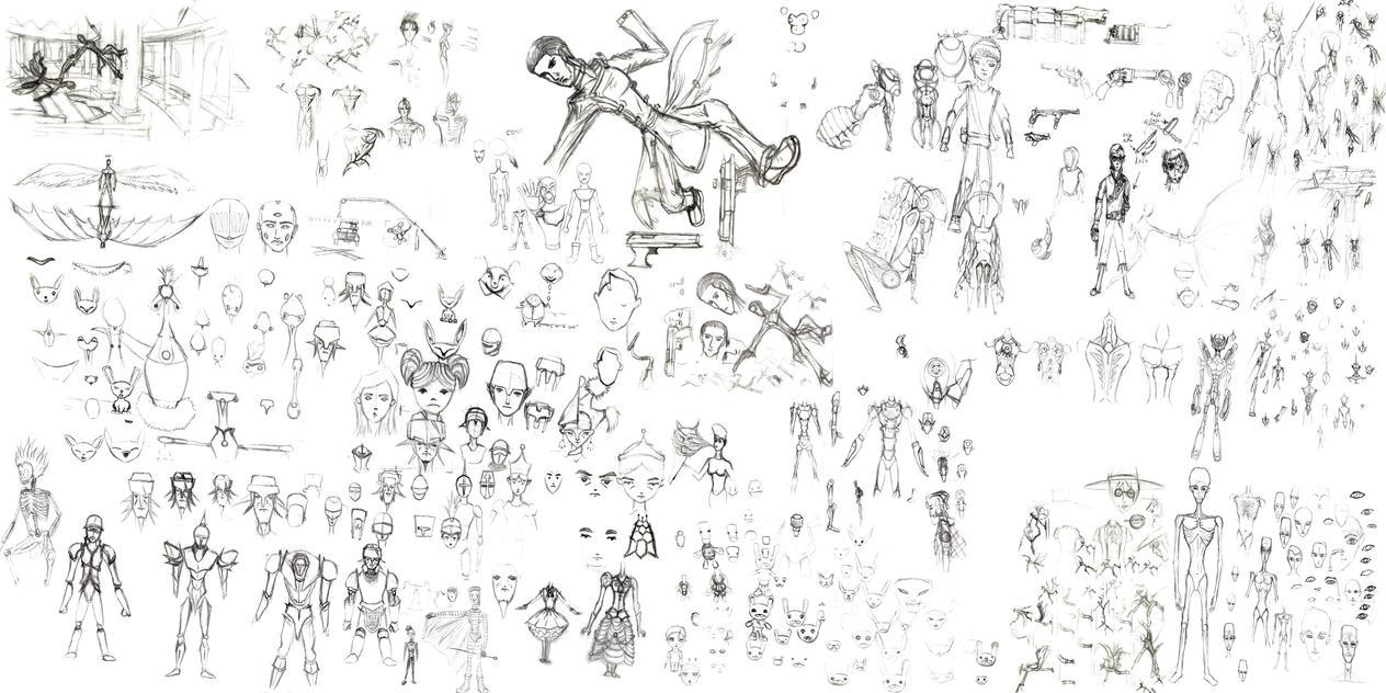 D Amp D Character Design Sheet : Traditional character design sheet by