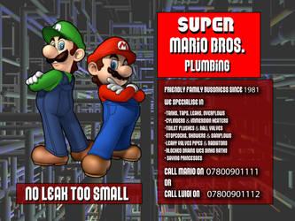 digital : super mario brother plumbing advert 2013 by darshan2good