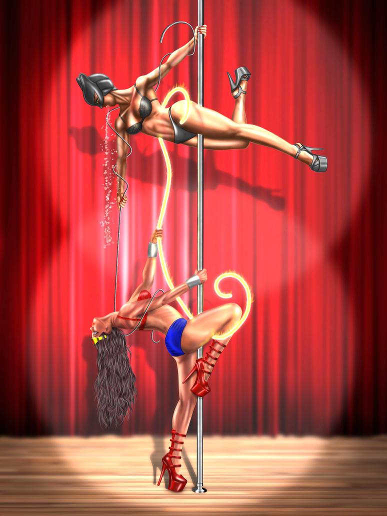 digital : strippers wonder woman cat woman 1 2013 by darshan2good