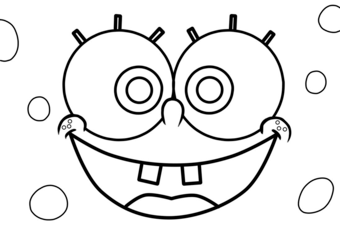 Spongebob Face Coloring Page Sketch Coloring Page