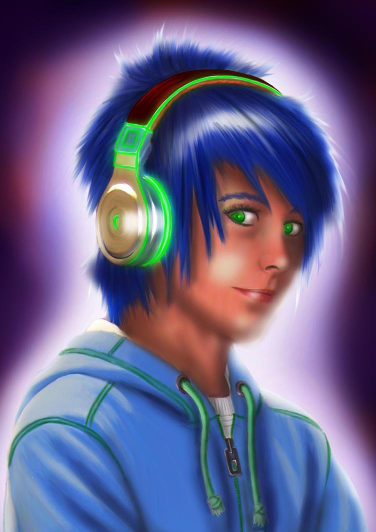 digital : headphones boy 2014 by darshan2good