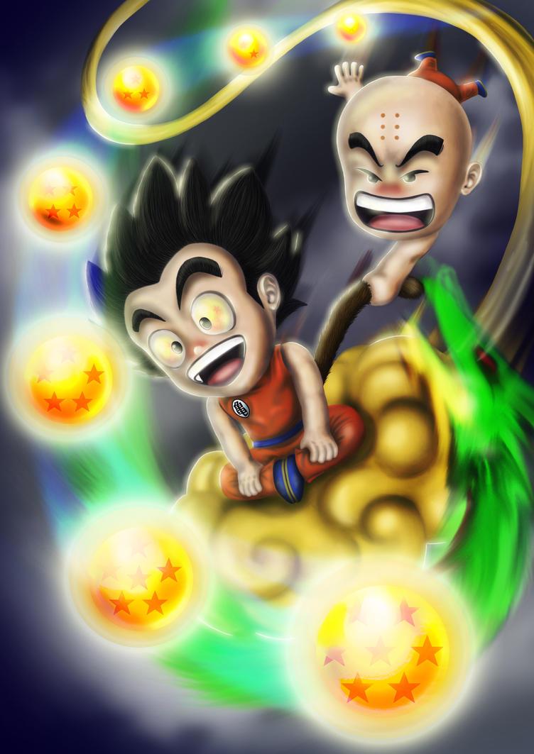 digital : Dragonball Goku Krillin 2015 by darshan2good
