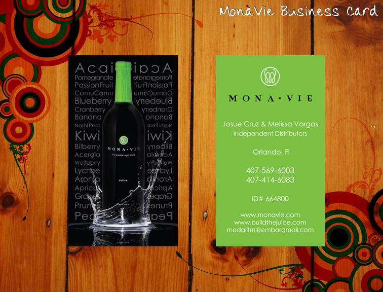 MonaVie Business Card by rikku813