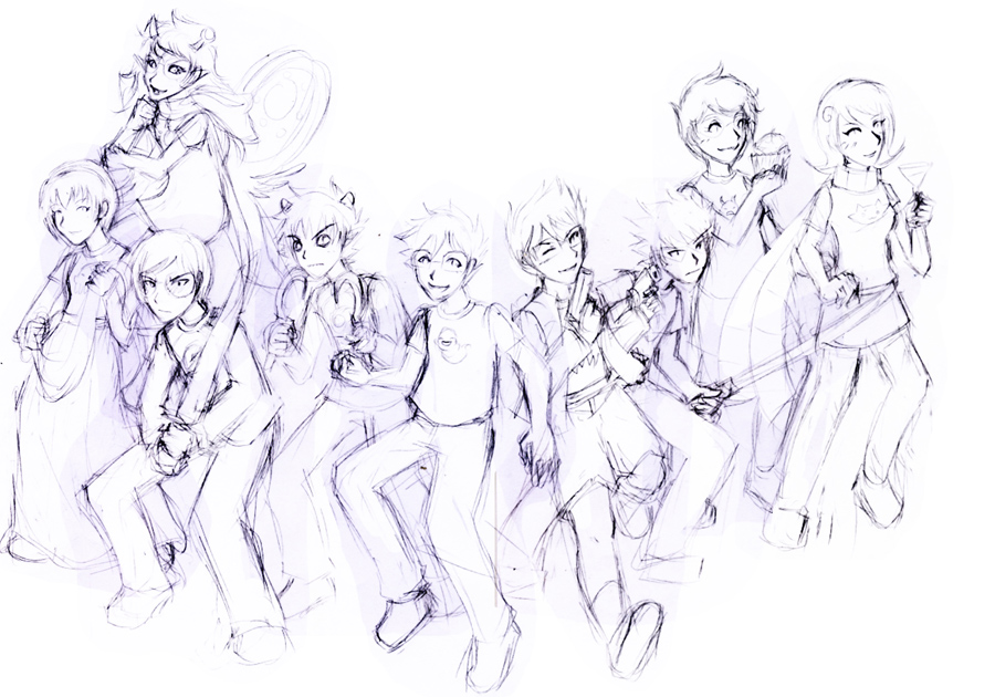 HS fangame - Lost Chums title sketch by ChibiEdo