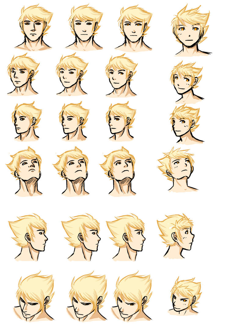 HS - Dirk - head angle practice by ChibiEdo