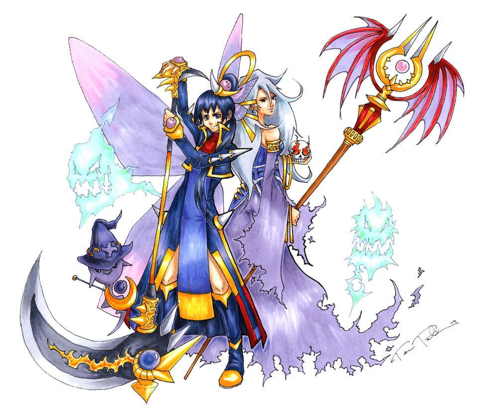 Brave Frontier Character Design Contest : Brave frontier alice and lemia by plaze on deviantart