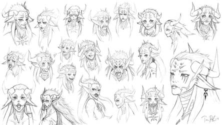 Anammelech Face Practice by Plaze
