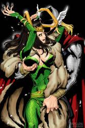 Thor n lady Loki by logosles