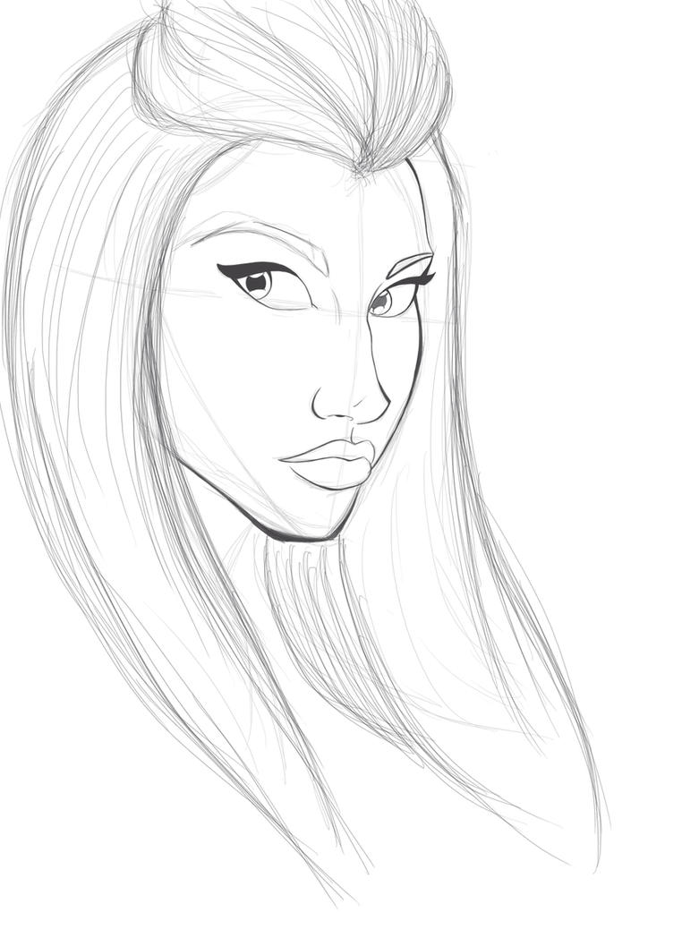 Nicki minaj sketch by cookx5453 on deviantart nicki minaj sketch by cookx5453 voltagebd Image collections
