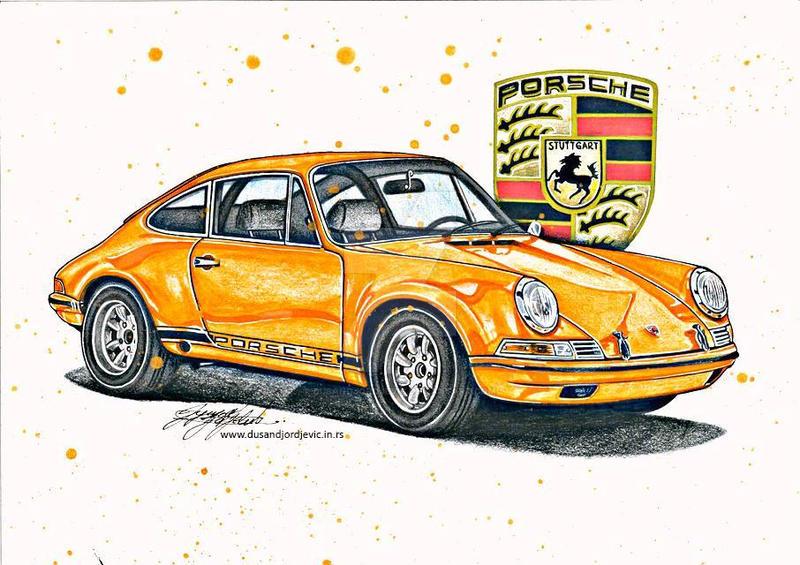 Porsche 911 By Dusan Djordjevic Car Drawing By