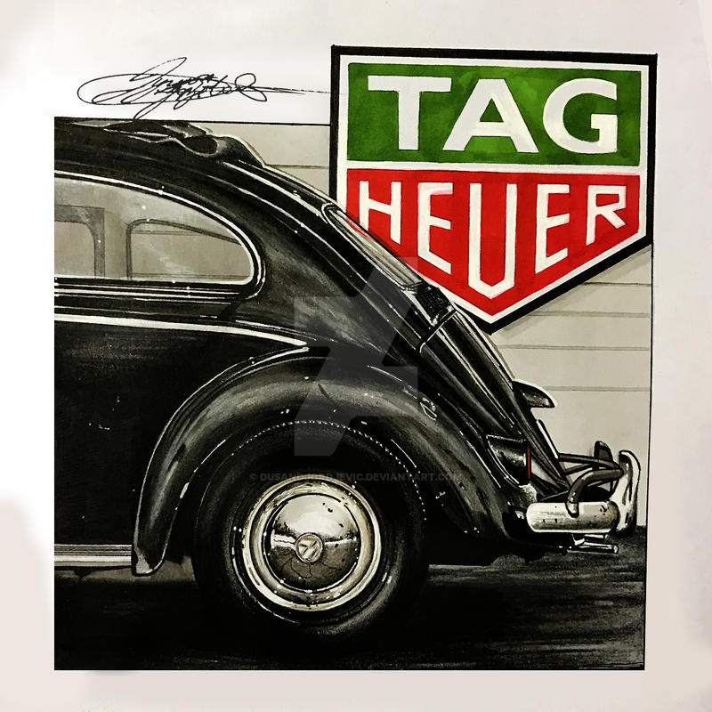 Vw Bug | Tag Heuer | Dusan Djordjevic CAR DRAWING by dusandjordjevic ...