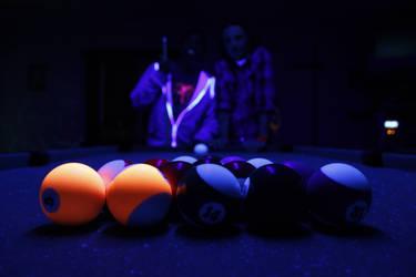 Pool Balls under Blacklight
